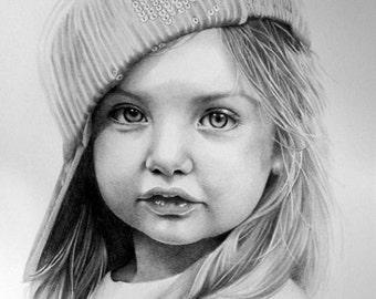 Custom Portrait Drawing, Custom Pencil Drawing, Custom Portrait,Portrait from Photo,Child Portrait,Baby Portrait,Wedding Portrait