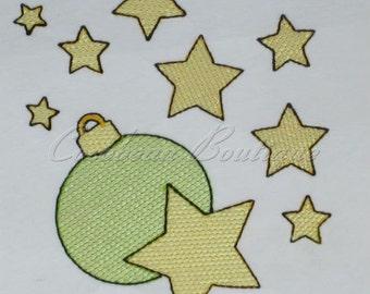mylar Stars & Ornament applique embroidery