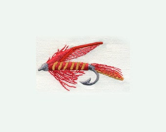 Fly Fishing Fly - Outdoor Sports- Fishing - Embroidery Design - Instant Digital Download