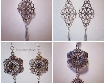 Fantasy Filigree Flower Jewelry