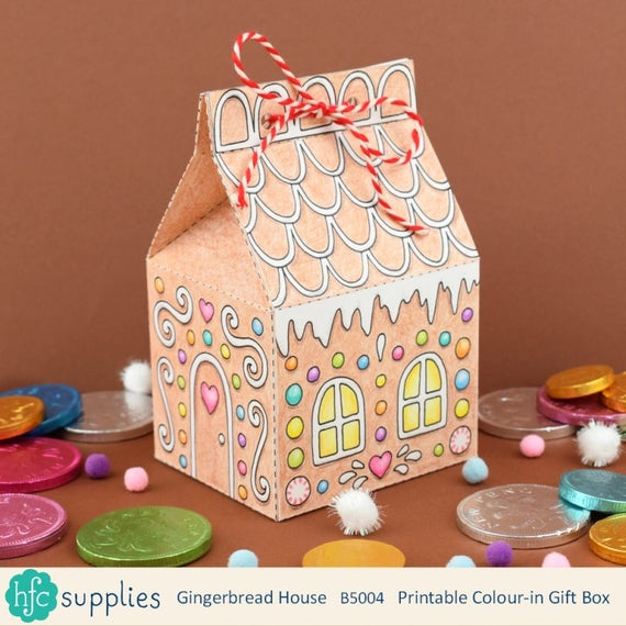 Printable Gingerbread House Box colour in and make up on text box, church box, pig roast box, fireplace box, tiramisu box, cookie dough box, candy box, biscotti box, fudge box, halloween box, ornament box, panettone box, rose box, cupcake house box, gumbo box, giveaway box, brownies box, butterfly box, ginger box, icing box,