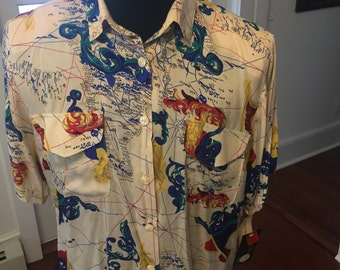 Vintage Short Sleeve Dress shirt 1990's New Old Stock