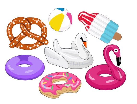 FLOATIES CLIPART pool party images swan floaty clipart