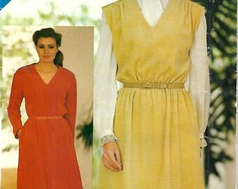 Butterick See & Sew 3833 Misses V-Neck Pullover Dress Pattern, Size 8-12,  UNCUT