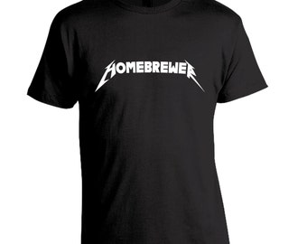 Best Homebrewer Shirt, Home Brewer Gift, Brewing Beer, Homebrewing Shirt, Beer Shirt, Brewing Tshirt, Heavy Metal Homebrewer T-Shirt