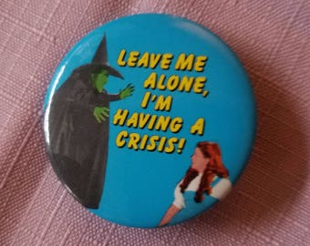 Wizard of Oz Novelty button style  pin