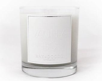 VANILLA FIG  || Luxury Scented Candle || Organic Coconut Wax || 9oz