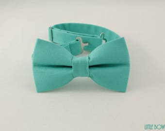 Easter Bow Tie, Wedding bow tie, Pastel colored bow tie, teal green bowtie, spring bowtie,light aqua bowtie,baby easter bowtie,pastel bowtie