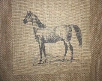 Appaloosa Burlap Horse  Picture