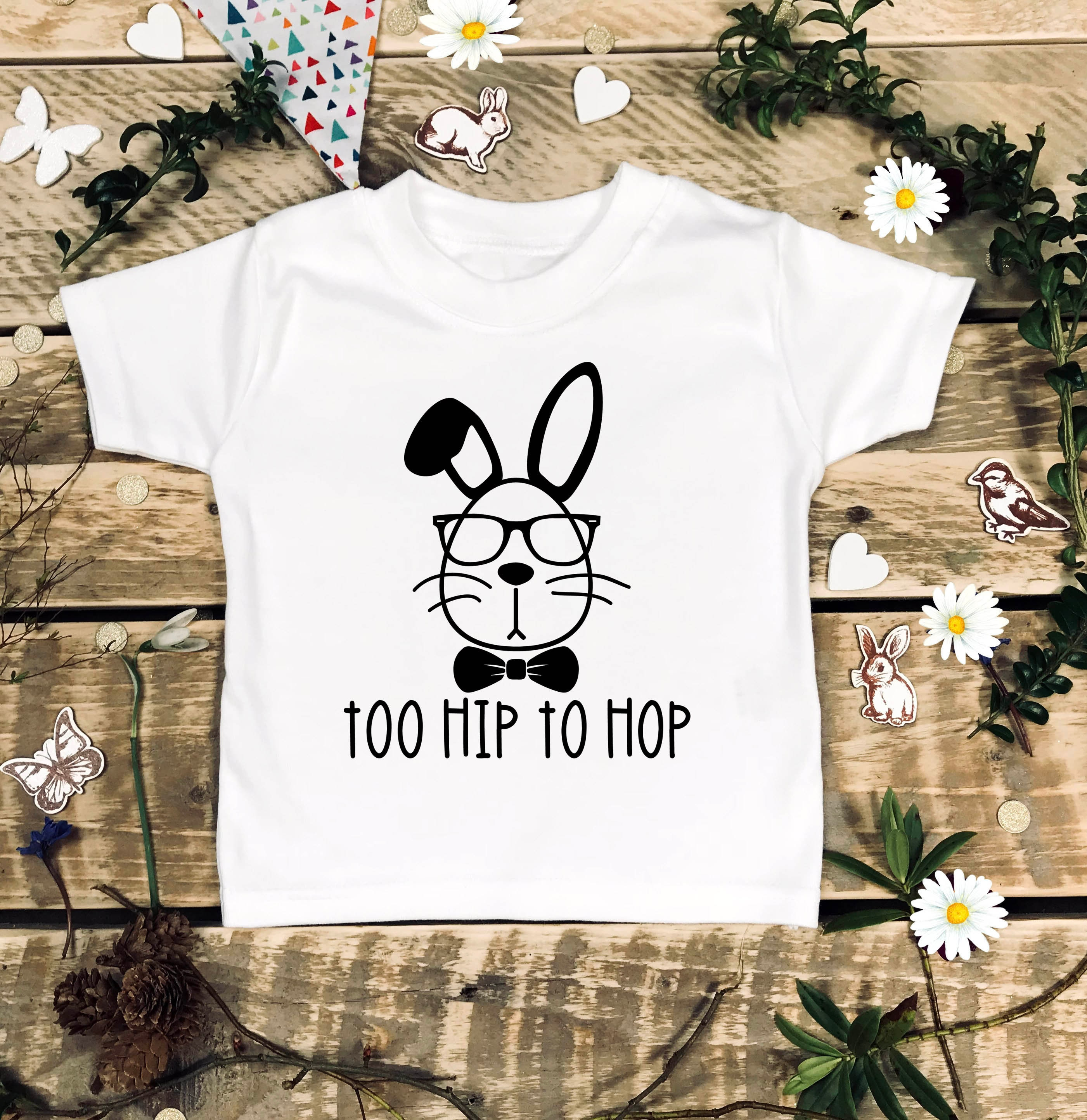 Too Hip To Hop Easter Shirt Trendy Easter Shirt Toddler Shirts