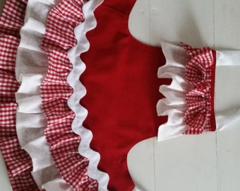 Christmas Gingham apron