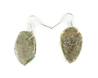 Ancient Roman Glass Earrings Beads Afghanistan 119629