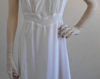 Vintage Full Slip Barbizon White Slip dress Wedding Bridal