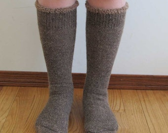 Extreme Alpaca wool socks - Super cozy warm and soft socks Size Small Fawn color