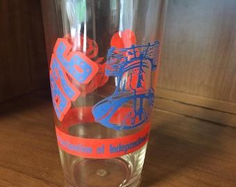 Vintage Bicentennial Tall Hazel Atlas Sour Cream Glass