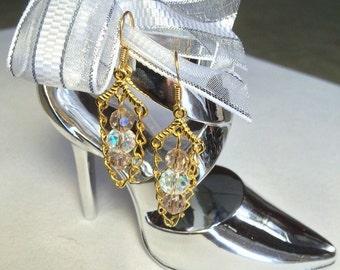 Metal color earrings gold