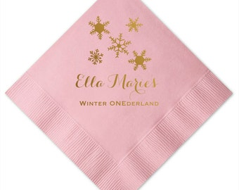 Winter ONEderland Personalized Napkins