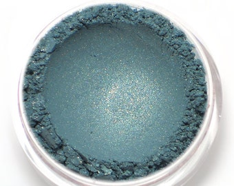 "Teal Eyeshadow with Gold Shimmer - ""Mermaiden"" - All Natural Vegan Mineral Makeup"