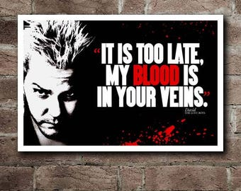 The LOST BOYS - DAVID Quote Movie Poster