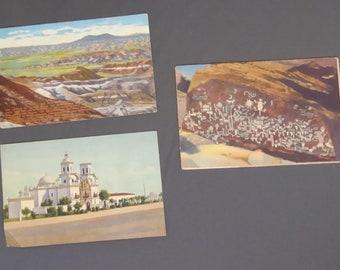 3 Vintage Arizona Postcards