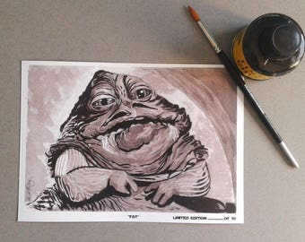 Fat-InkTober 2017-Signed Art Print Limited edition 10 units