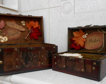 Rustic Fall Wedding Cards & Wishes Boxes   Fall Wedding   Fall Leaves Wedding Card Box   Card Holder   Wedding Wishes