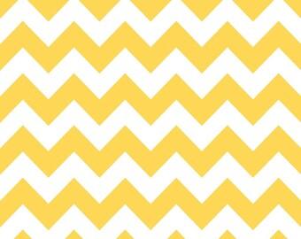 Riley Blake Medium Yellow Chevron - One Yard