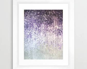 """Zoe Baysting Limited edition print """"Weeping Wisteria"""" large purple grey cherry blossom numbered signed giclee art fits ikea frame ribba"""