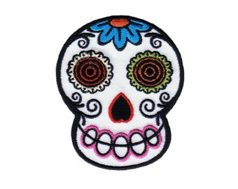 Chico Von Spoon Sugar Mama Patch Sugar Skull Death Embroidered Iron On Applique