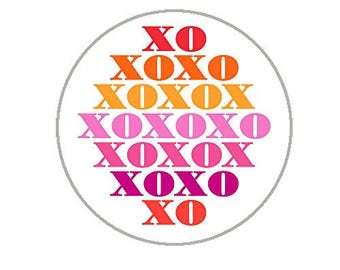 "Hugs & Kisses Envelope Seals - 1.2"" Stickers - 144 XOXO Stickers - 25137"