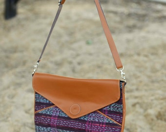 Upcycled Fair Trade Messenger Bag/ Clutch Purse, Now on sale!!! (original price 54.00)