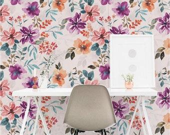 Wallpaper PAINTED FLORALS - Unique design - premium quality