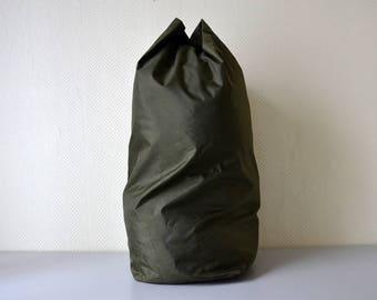 Vintage Duffel Bag WVL ABL from 1985 / Belgian army sailor bag