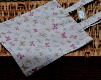 Handmade Butterfly tote bag