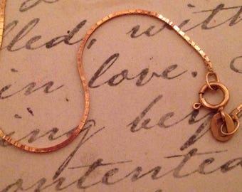 "14K Bracelet Chain 7""  Italy-  free shipping"