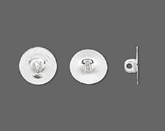 """100 pc Sew on Button Backs- Silver finish 6mm """"Turn anything into a Button"""""""