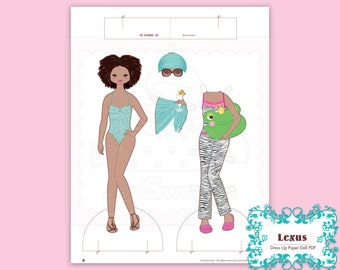 Lexus, Dress-Up Paper Doll-Printable PDF Download