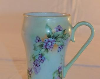 Hand Painted Bavarian Porcelain Mug