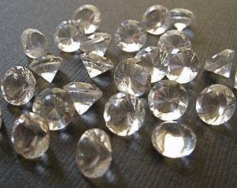 Clear Quartz 10mm Faceted Gemstone Brilliant Cut FOR ONE