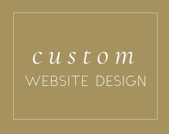 Custom Design, Website Design, Wordpress Website Design
