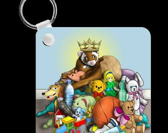 Ferret King Toy Stashing Keychain