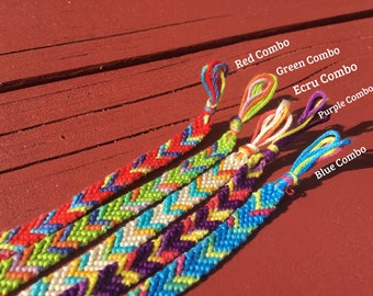 Tie Dye Single Chevron Friendship Bracelet