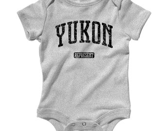 Baby Yukon Represent Romper - Infant One Piece - NB 6m 12m 18m 24m - Yukon Baby - 4 Colors
