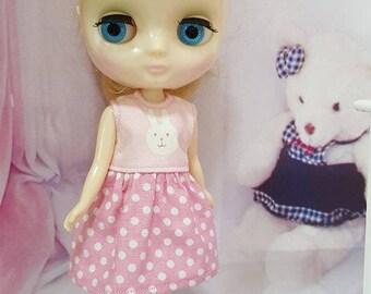 213 # Middie Bunny Pink W Dot Dress