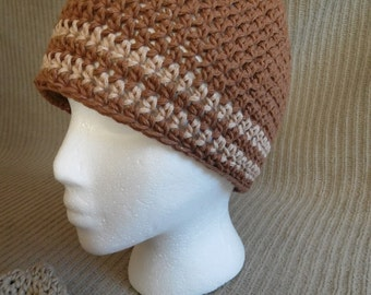 Organic Cotton Clothing Color Grown Organic Cotton Two Stripes Beanie, Limited Edition