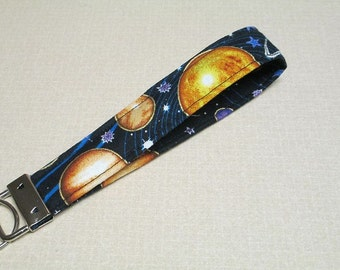 Fabric Key Fob, solar system, planets