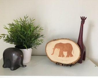 Wood elephant sign, nursey decor, home decor, elephants