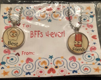 Bff valentine necklaces