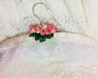 Shabby Chic Satin Wedding Hanger