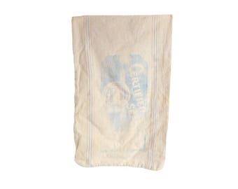 Vintage Cloth Seed Bag, Farm Seed Bag, Certified Seed Sack, Heavy Cloth Feed Sack, Vintage Fabric, Sewing Supply, Farmhouse Decor, S18